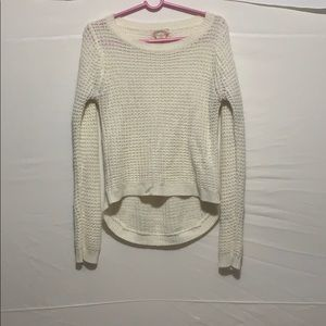 Ambiance White Long Sleeve Knit Sweater